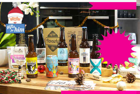 Flavourly - Box of eight craft beers personalised to your taste, two snacks and Flavourly membership  - Save 67%