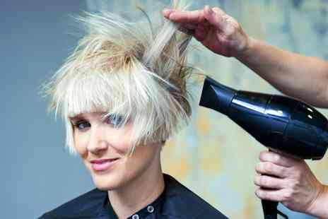 Studio 3 Hair and Beuaty - Cut and Blow Dry with Optional Half Head Highlights for Short or Long Hair - Save 60%