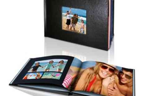 Mini Box - 20 Page Personalised Hard Cover Leather Look Photo Book  - Save 67%