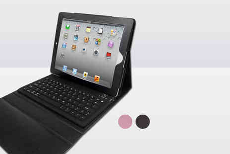 Hedoo - iPad 2, 3 or 4 faux leather keyboard case - Save 80%