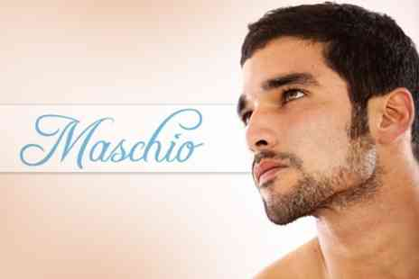 Maschio - Wet Cut and Finish With Traditional Cut Throat Shave for £12 at Maschio (£67Value) - Save 82%