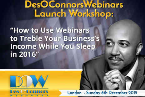 Social Media Marketing Events - Des OConnors Webinars Launch Workshop - Save 51%