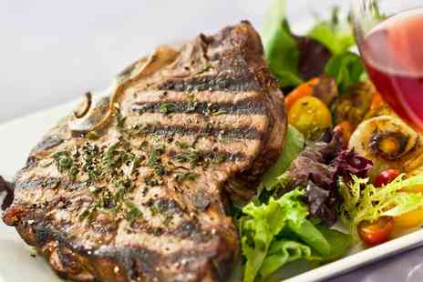 The Rudgleigh Steakhouse - Two Course 10oz Steak Meal with Wine for Two or Four  - Save 49%