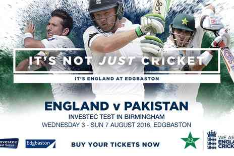 Warwickshire Cricket Club - Tickets to England v Pakistan Investec Test Match Cricket  from 3 to 6 August 2016  - Save 0%