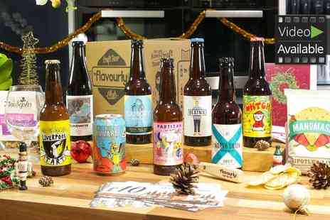 Flavourly - Eight  Craft Beers plus Snacks and Personalised Flavourly Beer Club Membership With Free Delivery - Save 50%