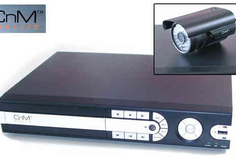 UK Surplus Central - CNM Secure Four Camera CCTV System with 320GB DVR - Save 24%