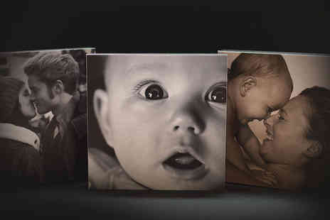 "ARTF.LY - Three 5"" x 5"" personalised photo blocks - Save 84%"