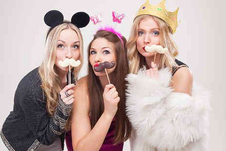 Event Booth Hire - Three hour photo booth hire including 200 prints- Save 58%