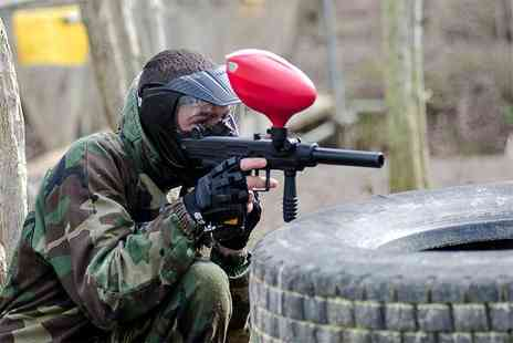 Conflict Paintball - Full day of paintballing for five including lunch and 100 paintballs each - Save 86%