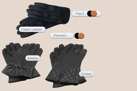 MC California - Pair of genuine leather mens or womens gloves - Save 77%