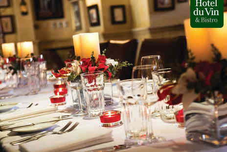 Hotel du Vin & Bistro - Three Course Christmas Meal with Glass of Wine Each for Two   - Save 0%