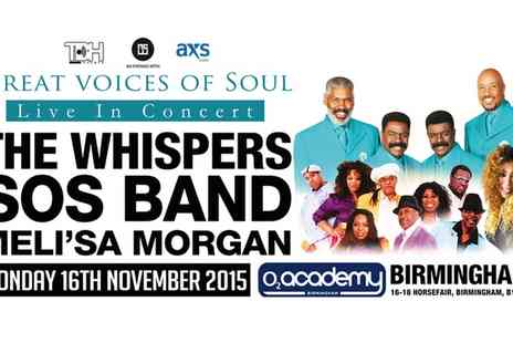 TBH Events - Ticket to Great Voices of Soul Featuring The Whispers  - Save 33%