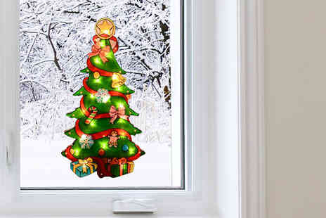 HomeStore Direct - Christmas Tree Light Up Window Decoration - Save 40%