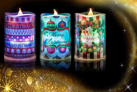 Treats for Kids - Three LED Christmas candles - Save 79%