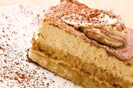 Cara Mia Desserts - Cake and Hot Drink for One or Two  - Save 0%