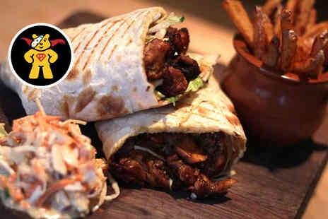 Biblos on the Hill - Sharing Platter with Mini Mixed Grill or Dessert Each or Caribbean Wrap with Slaw and Side for Two - Save 42%