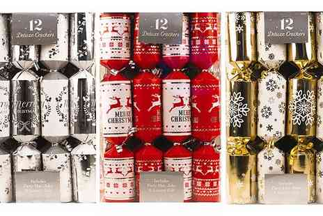 CFS Trading - 12 Deluxe Christmas Crackers - Save 44%