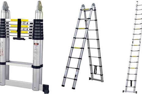 Plus Bee - 5M Folding Telescopic Ladder - Save 63%