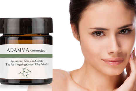 Adamma Beauty - Green Tea Anti Ageing Face Mask with Hyaluronic Acid  - Save 75%
