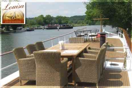 Barge Louisa - Full Day Five Star Cruise on the Upper Thames with Four Course Lunch for £80  - Save 60%
