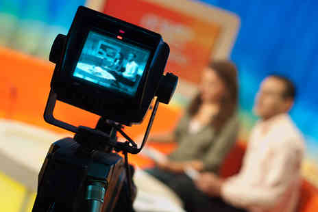 The TV Training Academy - One day  Be a TV Presenter or business presenting course  - Save 90%