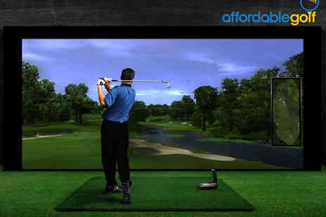 Affordable Golf - One Indoor Golf Lessons with Video Analysis - Save 0%