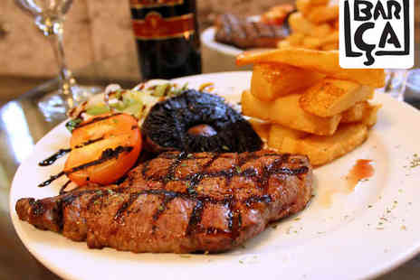 Barca Bar - Steak Meal with Bottle of Wine to Share for Two  - Save 60%