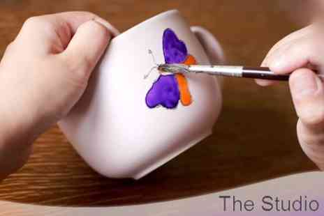 The Studio - £11 Ceramic Painting For Two With Mugs and Glazing  - Save 60%