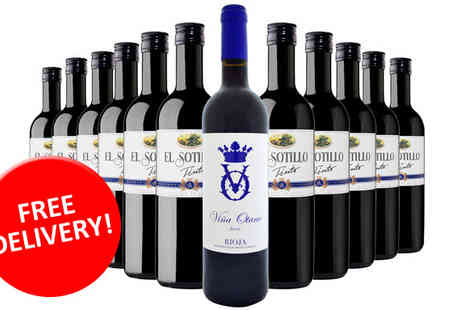 GLOBAL DEALS RIOJA PREMIUM - 12 Bottle Rioja Wine Case - Save 65%