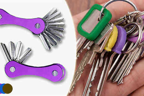 May Office Supplies - Compact Key Organiser Available in Four Colours - Save 60%