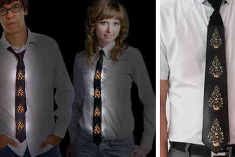 christmas tshirts - Sound Activated LED Christmas Tie - Save 60%