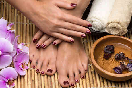 50 Shades of Beauty - Manicure or pedicure - Save 55%