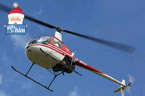 Heli Jet Aviation - Hover challenge experience for one including sparkling wine and a certificate  - Save 36%