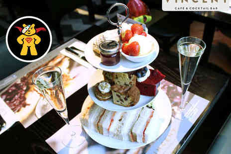 Vincent Cafe & Cocktail Bar - Afternoon Tea for Two with A Glass of Prosecco Each - Save 0%