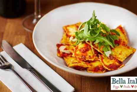 Bella Italia - Choice of Two Course Meal with Wine or Three Course Meal with Prosecco - Save 53%