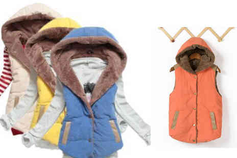Stylematch Online  - Womens Fleece Lined Hooded Gilet - Save 74%