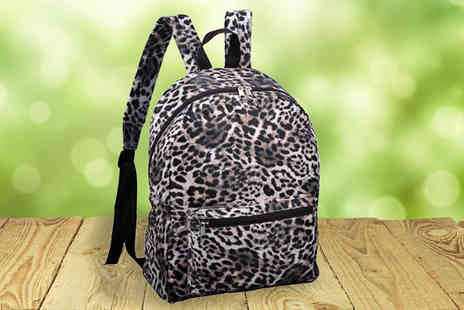 HomeStore Direct - Leopard Print Backpack - Save 33%