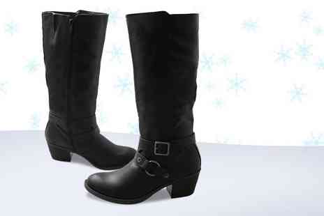 Top Notch Fashion Designer - Pair of stylish mid calf riding boots - Save 82%