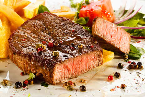 Cactus Grill Bar Restaurant - Rib eye steak, chips and salad for two  - Save 50%