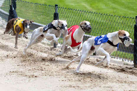 Love the Dogs - Greyhound Racing Admission and Race Programme for Two with Burger and Beer or Soft Drink Each - Save 74%