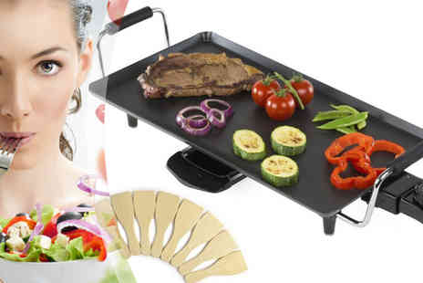 sssuperstore - 2KW Large Electric Teppanyaki Table Top Grill - Save 38%