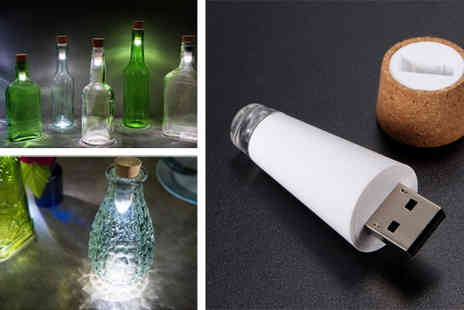 Rubybliss Global  - 2 x USB Bottle Light - Save 38%