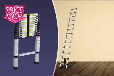 Product Mania -   3.8m aluminium extendible multi purpose ladder  - Save 0%