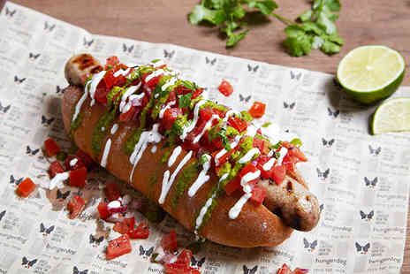 Hungerdogs - Two gourmet hot dogs   - Save 52%