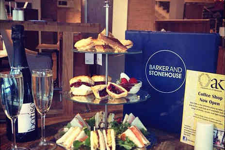 Barker & Stonehouse- Afternoon Tea with Glass of Prosecco Each for Two - Save 0%
