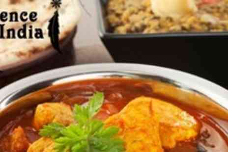 Essence of India - Two Courses of Indian Cuisine With Rice and Naan Each Plus Wine For Two - Save 60%
