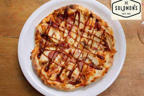 Solomons Cafe Bar - Pizza and Glass of Wine Each for Two - Save 0%