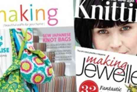 GMC Magazines - Treat for Mums 3 or 6 Month Subscription to Making, Knitting & Making Jewellery - Save 57%