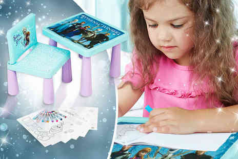 Treats for Kids - Frozen colouring table and chair set - Save 63%