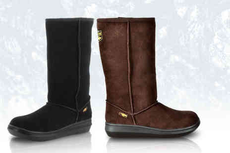 Active Human - Pair of classic Rocket Dog suede calf boots in a choice of two colours - Save 67%
